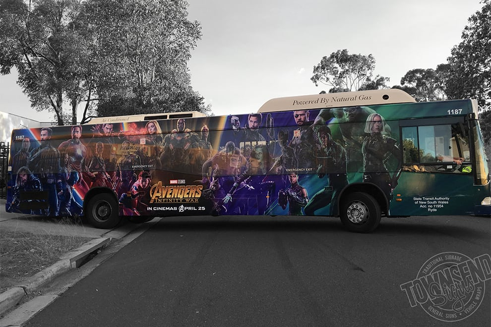 Avengers Infinity War Bus Wrap