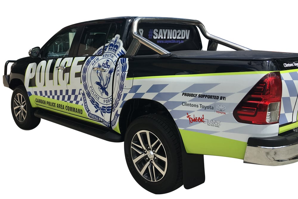 Townsend Signs Hilux Camden Police Wrap
