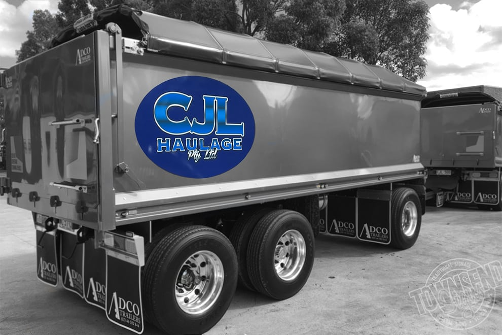 Truck Signage CJL Haulage Pty Ltd